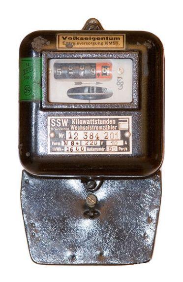 มิเตอร์ไฟฟ้าจากเยอรมันรุ่นเก่า