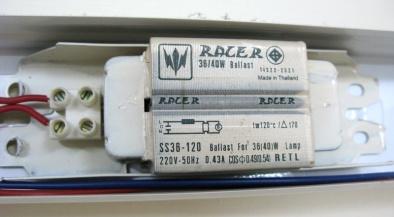 ป้ายบน บาลาสต์ เรเซอร์ racer36_40W